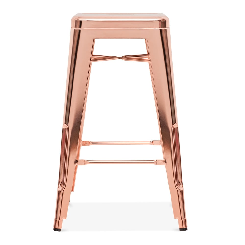 rose gold 75cm tolix style industrial stool cult furniture. Black Bedroom Furniture Sets. Home Design Ideas
