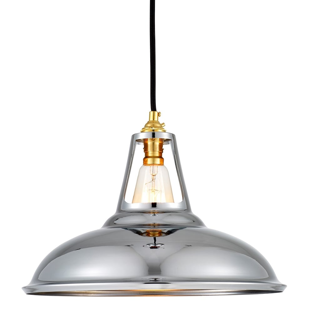 Cult Living Dulwich Chrome Industrial Pendant Lamp