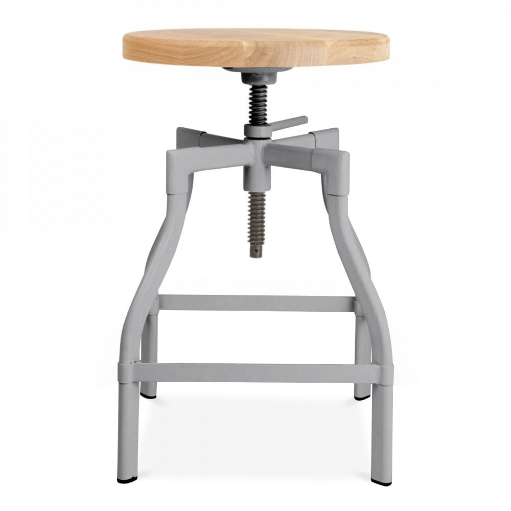 Industrial Swivel Stool in Cool Grey | Kitchen & Bar Stools | Cult UK