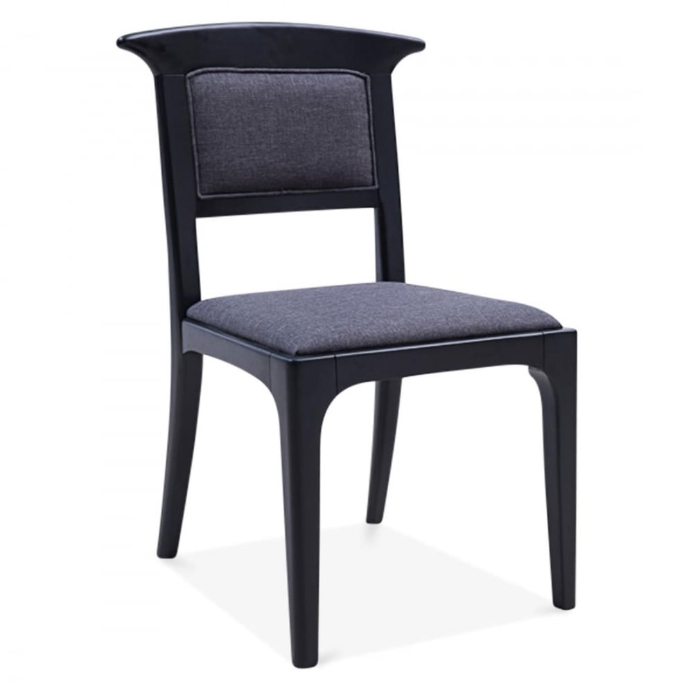 Cult living black clara dining chair with seat pad cult furniture - Cult furniture ...