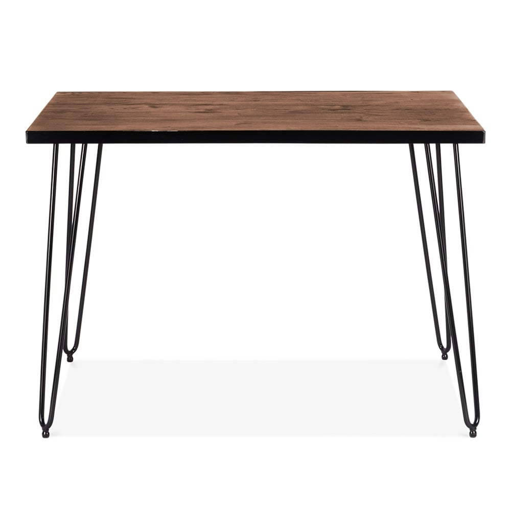 Cult living 107cm hairpin rectangular side table in walnut for Walnut side table