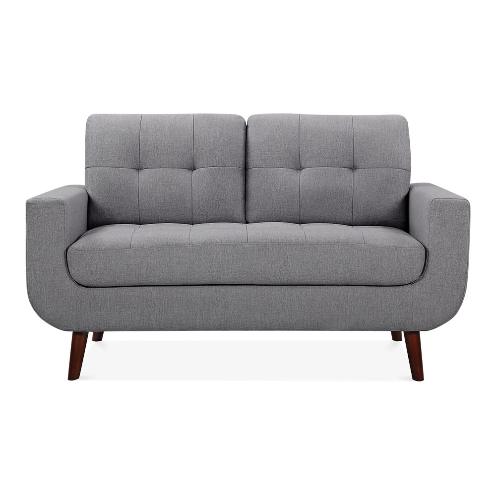 Sander 2 Seater Small Sofa Fabric Upholstered Grey Cult Furniture Uk