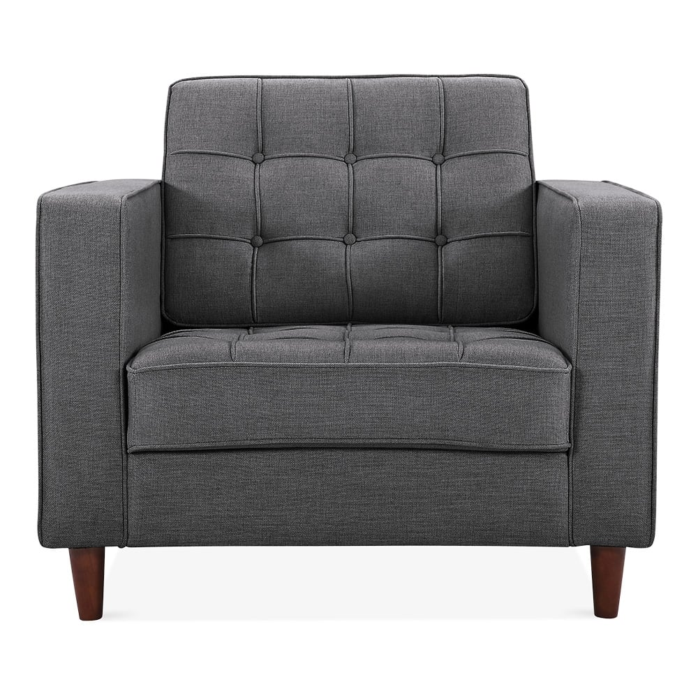 clifford armchair fabric upholstered dark grey cult furniture uk. Black Bedroom Furniture Sets. Home Design Ideas