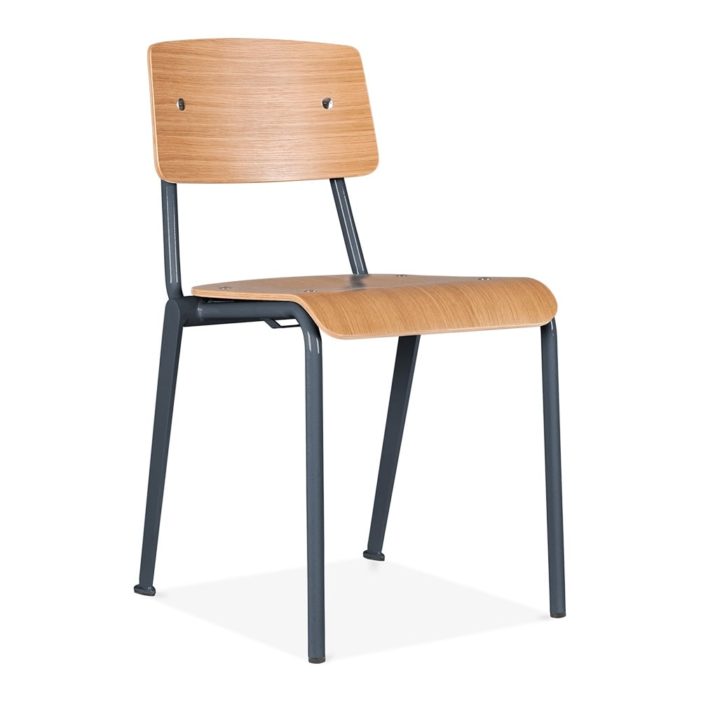 Cult Living French School Chair In Black With Wood Option Cult Uk