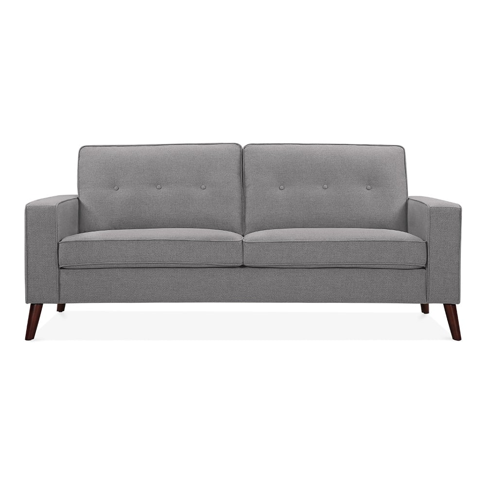 madison 3 seater sofa fabric upholstered grey cult. Black Bedroom Furniture Sets. Home Design Ideas