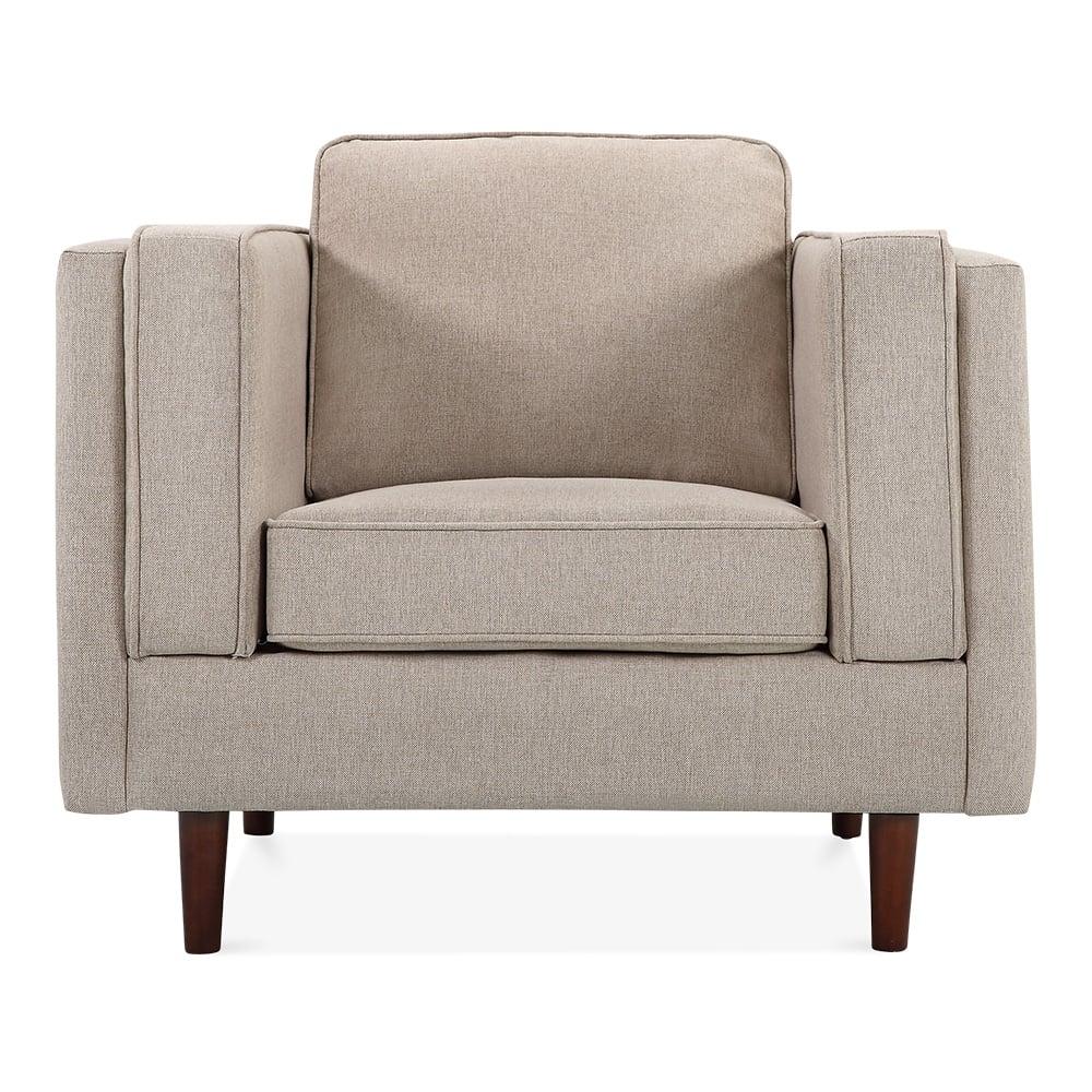 Edgar armchair fabric upholstered cream cult furniture for Cream armchair