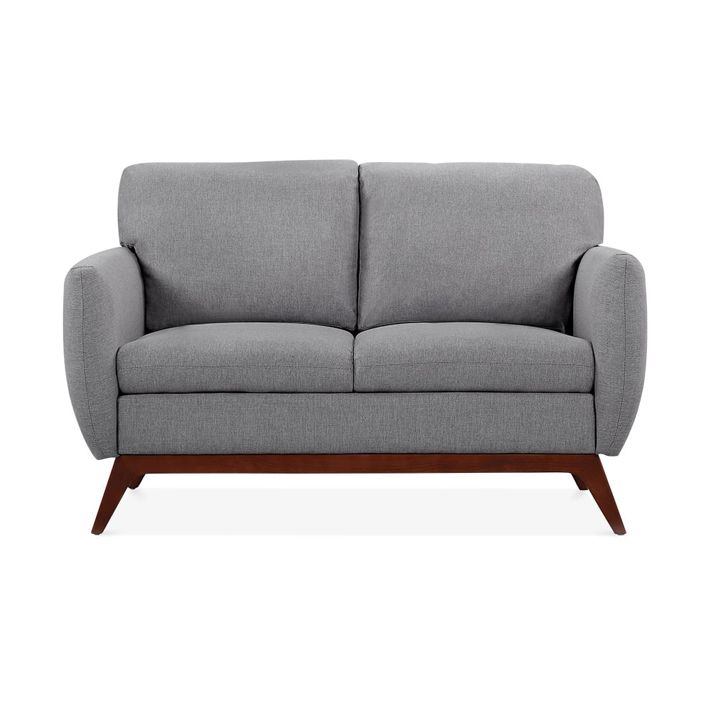 Jensen 2 Seater Small Sofa, Fabric Upholstered, Grey