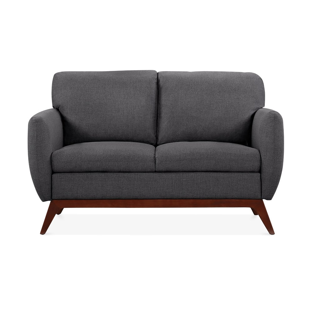 Jensen 2 seater small sofa fabric upholstered dark grey cult furniture - Cult furniture ...