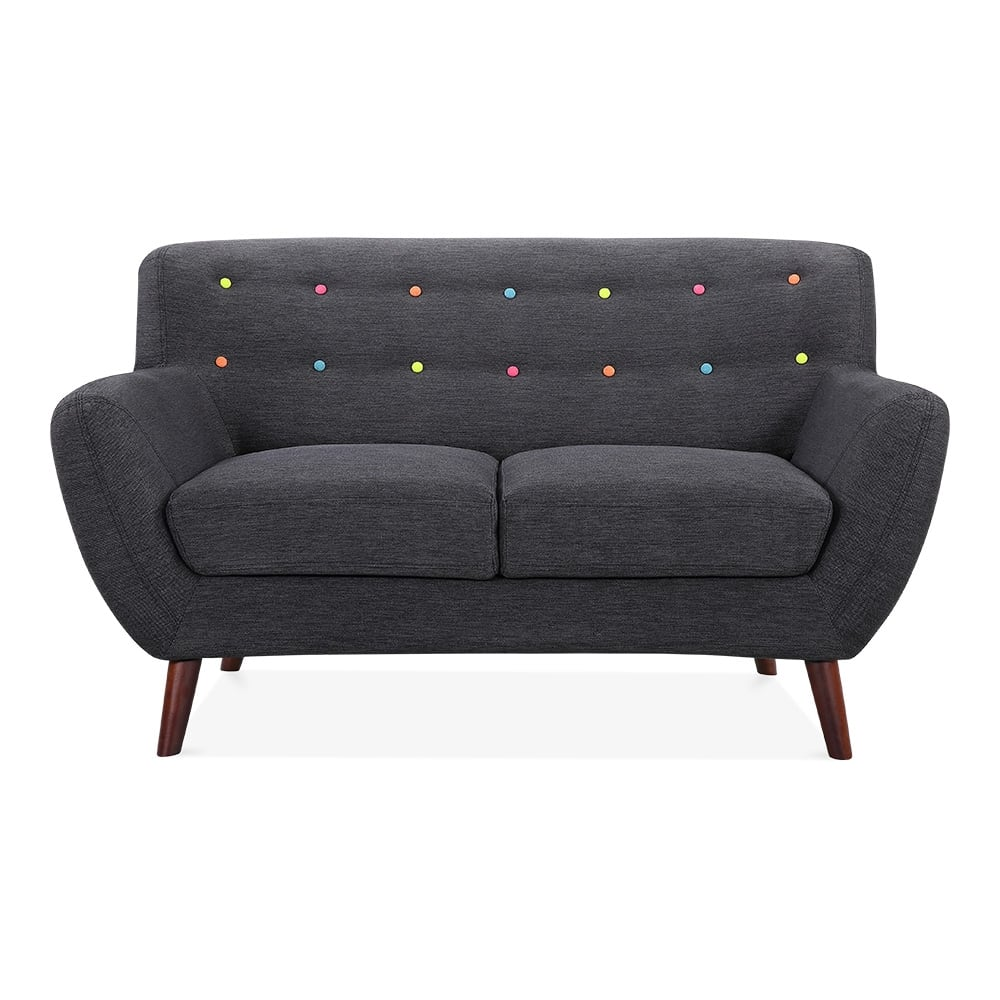 trent 2 seater small sofa fabric upholstered dark grey cult furniture uk. Black Bedroom Furniture Sets. Home Design Ideas