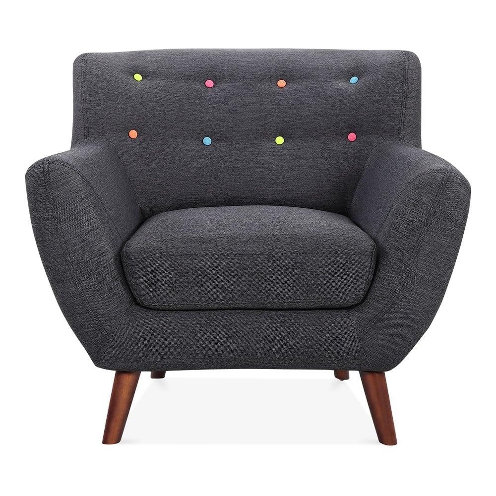 Cult Living Trent Dark Grey Armchair | Cult Furniture UK
