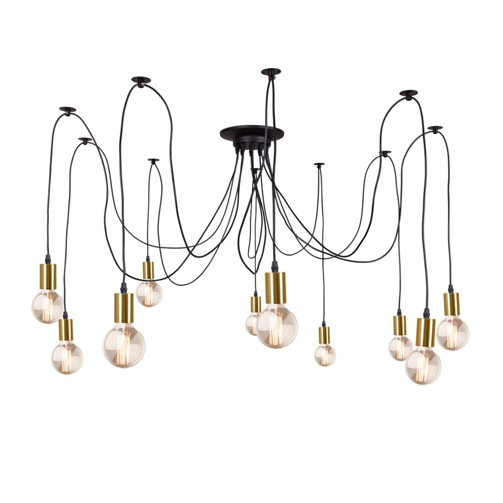 Edison spider lamp in gold contemporary modern for What is a spider lamp