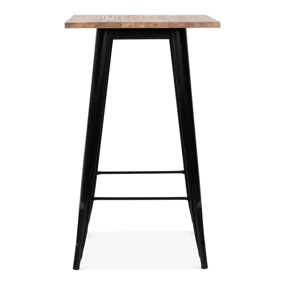 Cult living tolix style metal table with wood top option for Table exterieur tolix