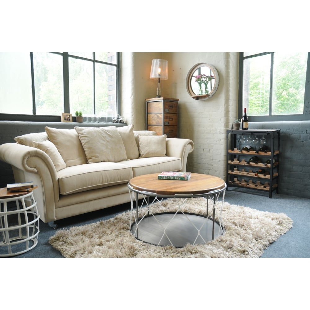 Mango Wood Rope Coffee Table With Storage Modern Coffee Tables