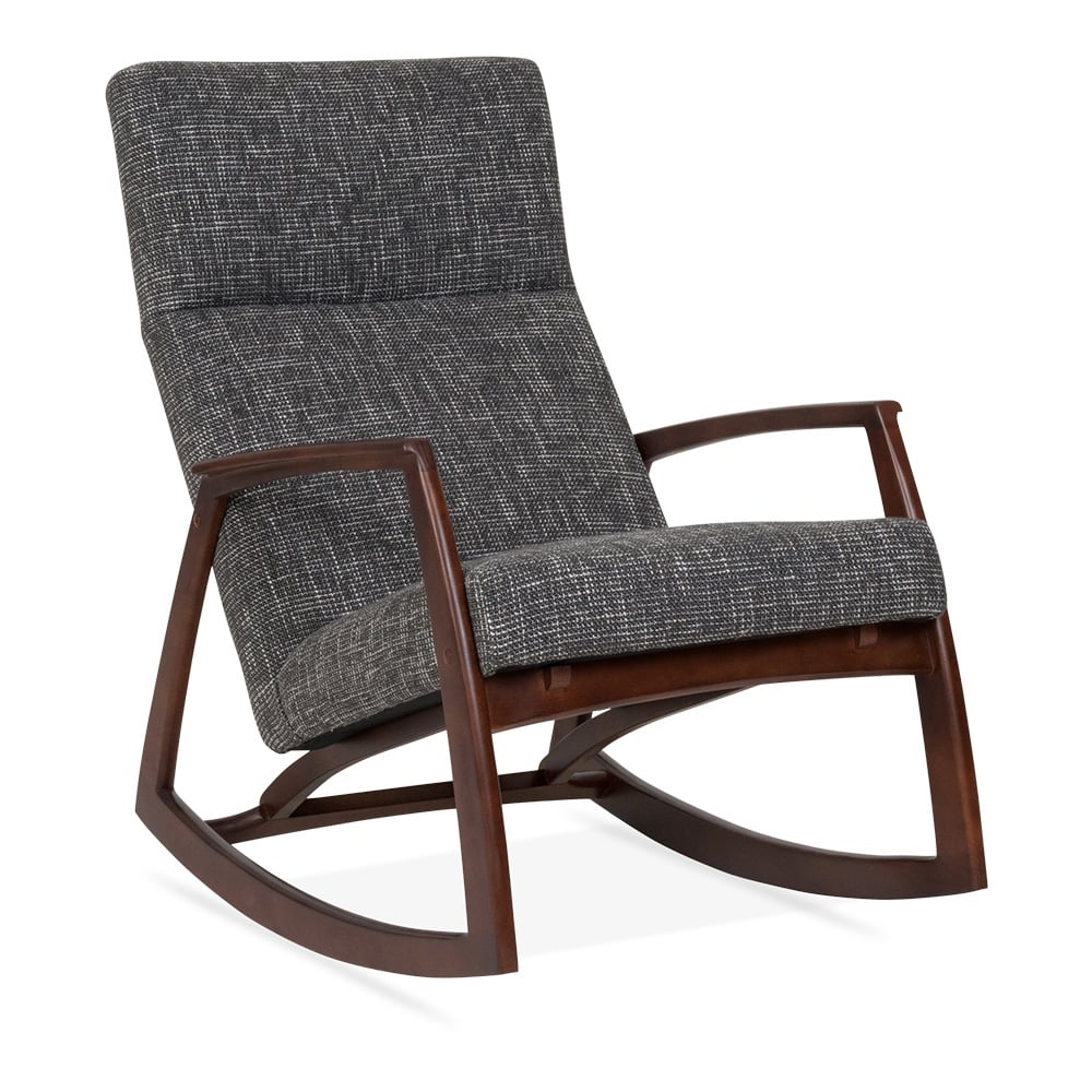 Cult living stanley rocking chair in grey cult furniture uk for Rocking chair
