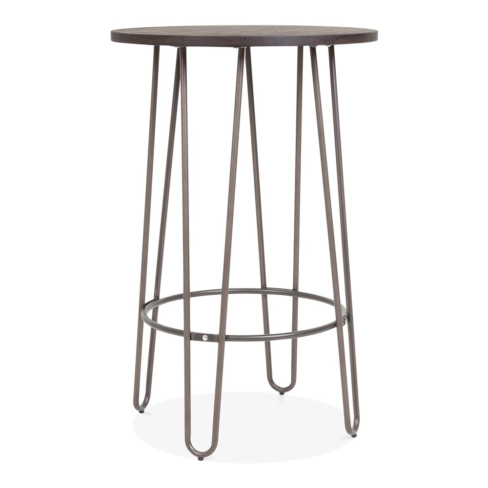 cult living hairpin high table in rustic with solid wood top cult uk. Black Bedroom Furniture Sets. Home Design Ideas