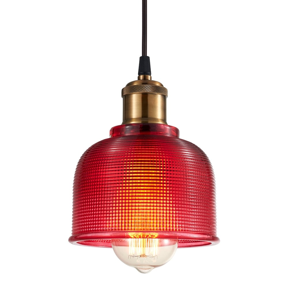 Pink Industrial Pendant Light: Cult Living Tulip Glass Pendant Lamp Hot Pink