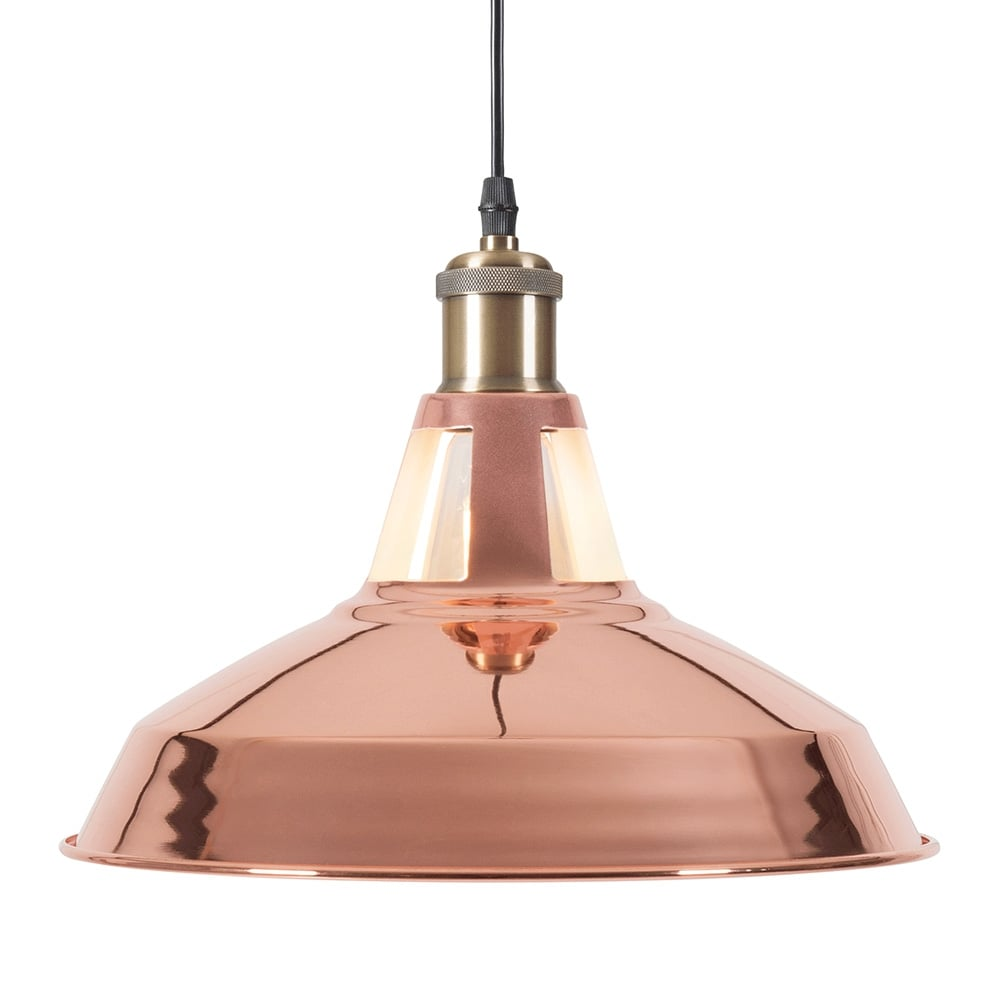 Cult Living Bushwick Copper Industrial Pendant Lamp Cult