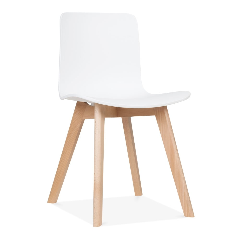 Cult Living White Andersen Dining Chair With Beech Legs