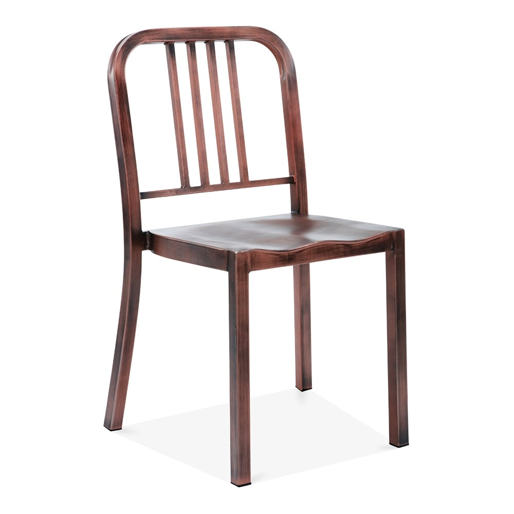 Metal Dining Chair 1006 Brushed Copper Restaurant Chairs Cult UK
