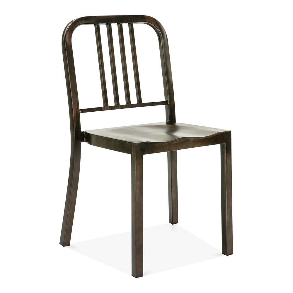 metal dining chair 1006 rustic restaurant chairs cult uk