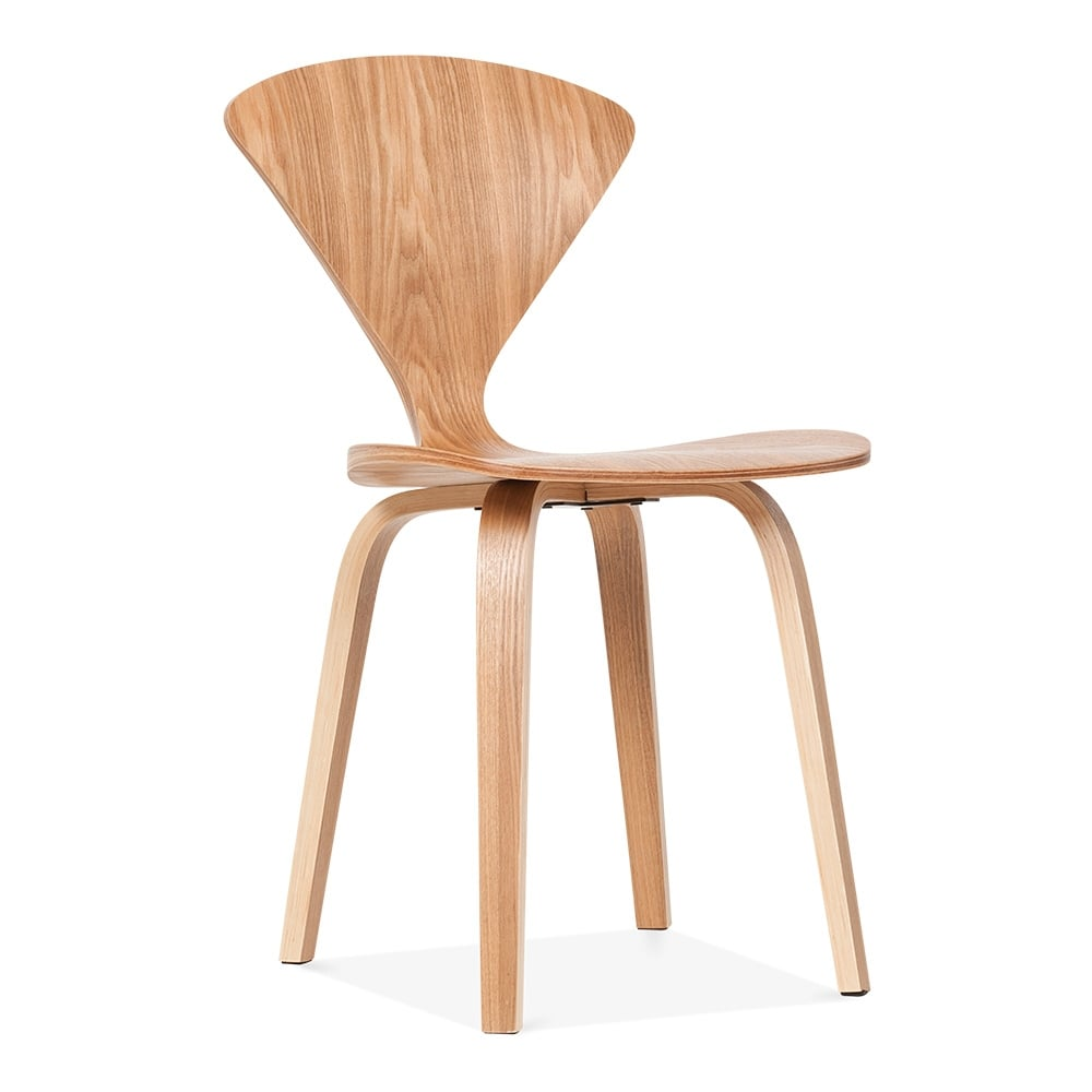 Cult living cherner style walton wooden dining chair for Natural wood dining chairs