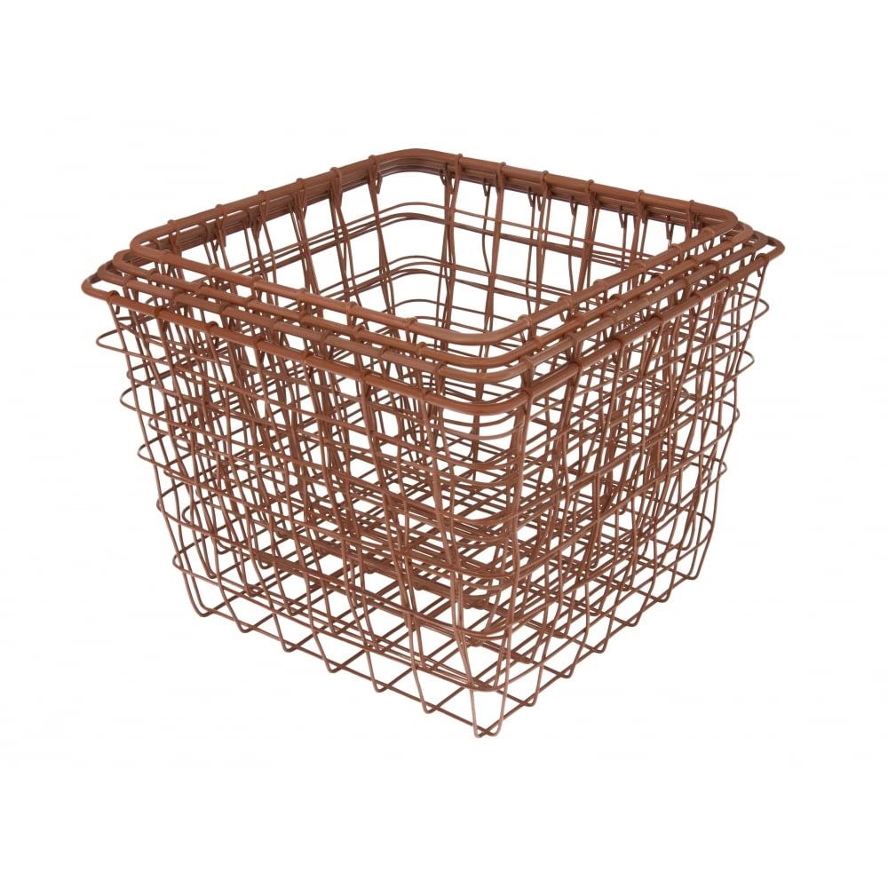 present time set of 4 linea copper wire baskets cult. Black Bedroom Furniture Sets. Home Design Ideas