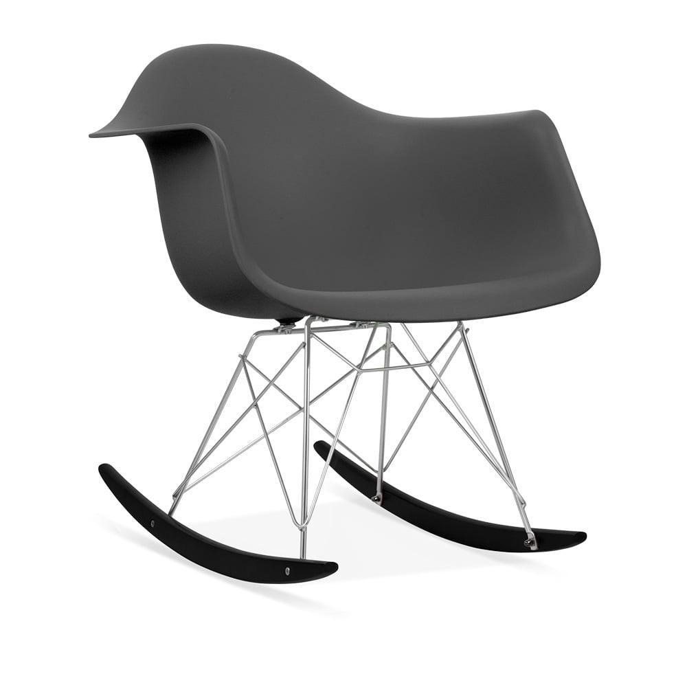 Rar rocking chairs eames style rar rocking arm chair grey - Iconic Designs Dark Grey Rar Style Rocker Chair