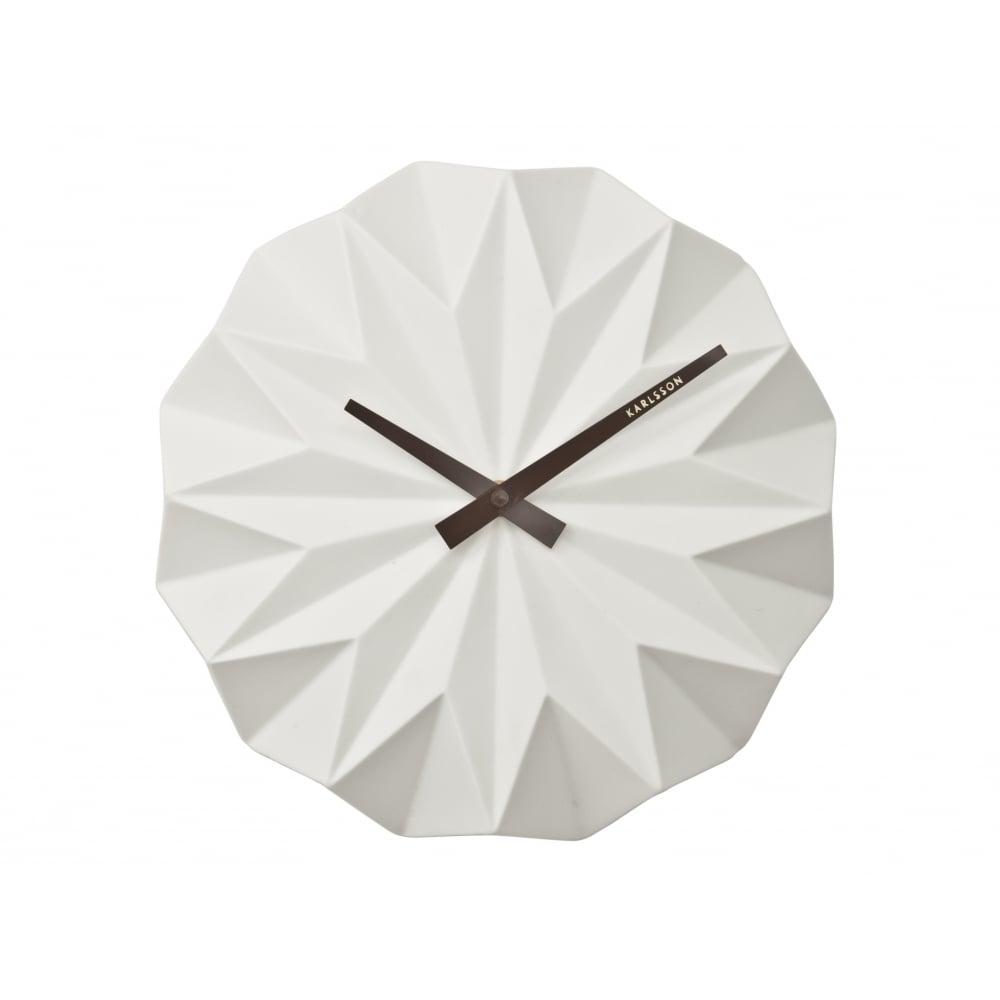 Karlsson Origami Ceramic Wall Clock White Cult Furniture # Meuble Tv Origami