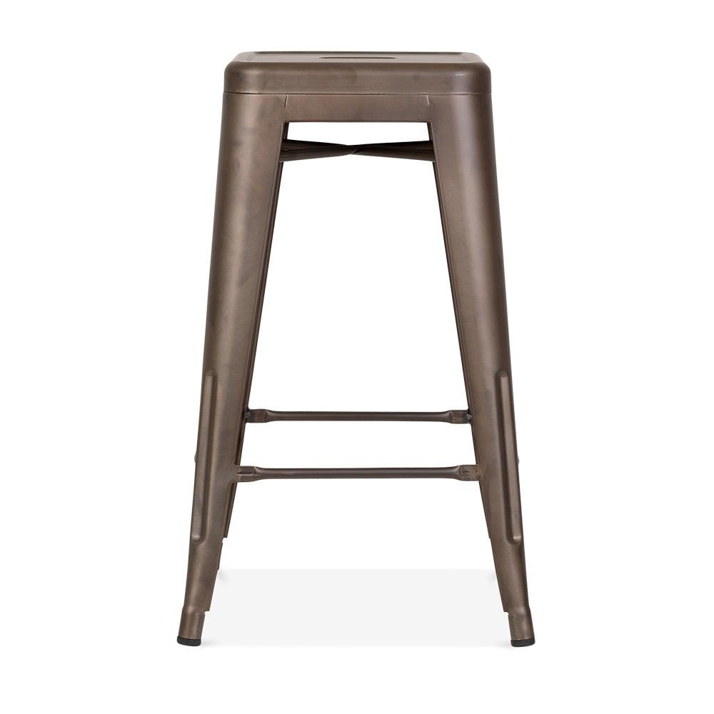 Xavier Pauchard Tolix Style Metal Stool - Rustic 65cm. u2039  sc 1 st  Cult Furniture & Rustic 65cm Tolix Style Stool | Restaurant Stools | Cult UK islam-shia.org