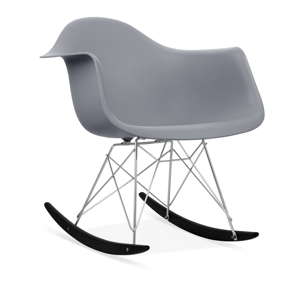 Rar rocking chairs eames style rar rocking arm chair grey - Iconic Designs Cool Grey Rar Style Rocker Chair