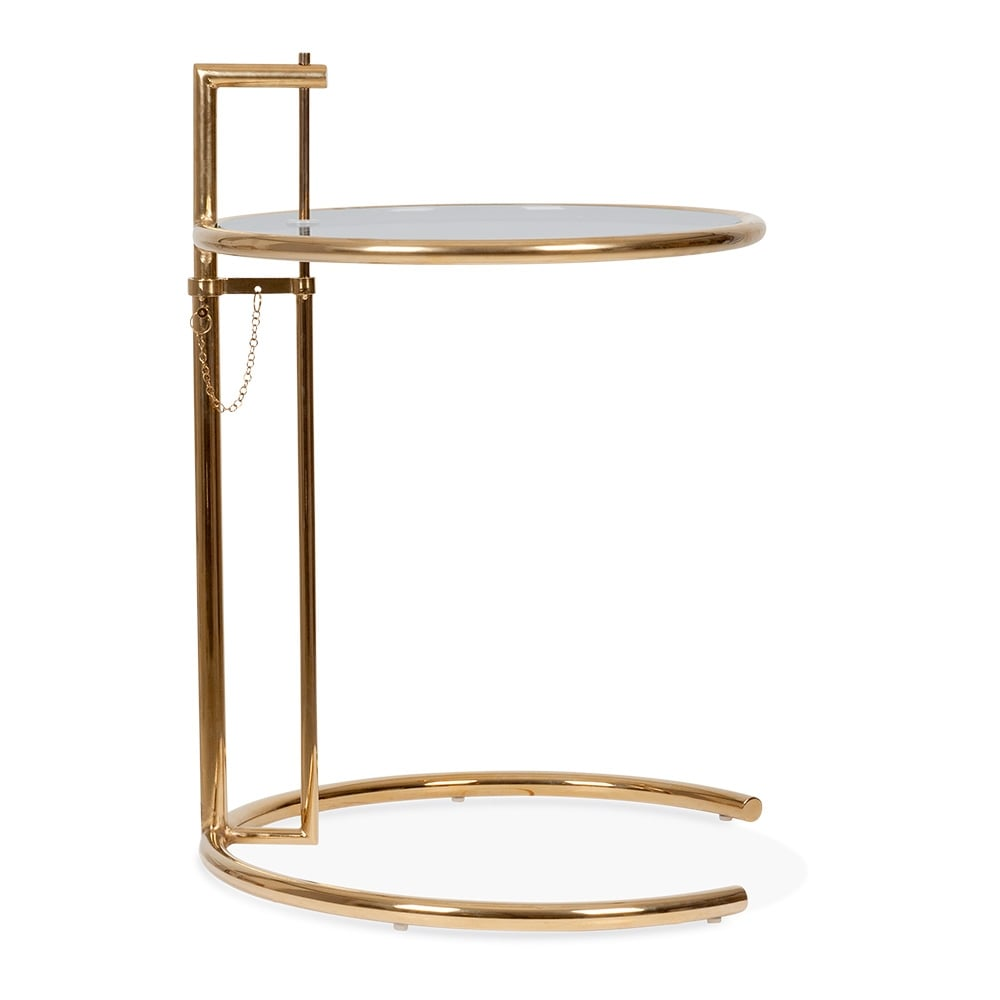 Beistelltisch Eileen Gray eileen gray style side table gold and tinted glass cult uk