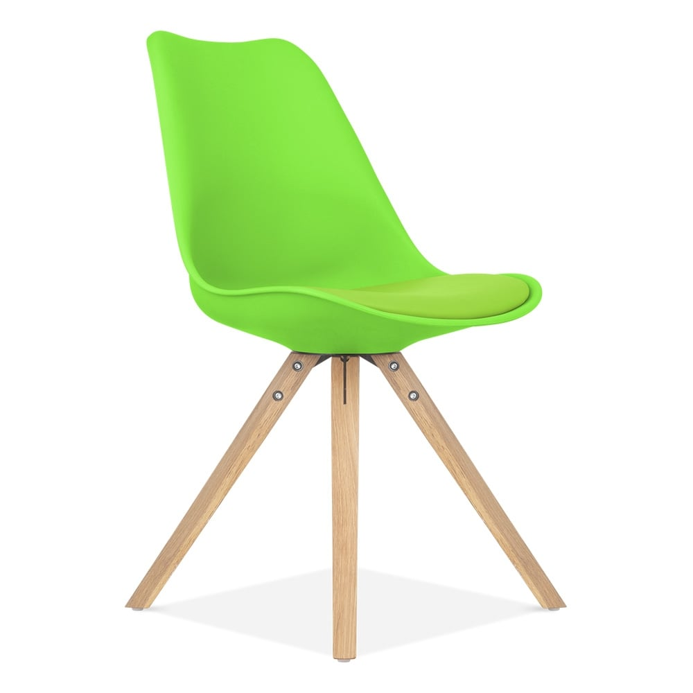 Lime Green Dining Chairs Lime Green Dining Chair With Pyramid Style Solid Oak Wood Legs