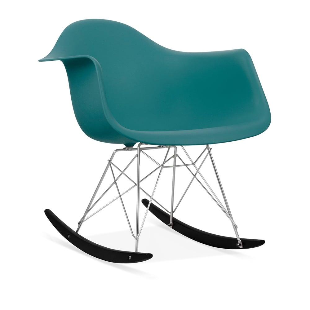 Rar rocking chairs eames style rar rocking arm chair grey - Iconic Designs Teal Rar Style Rocker Chair