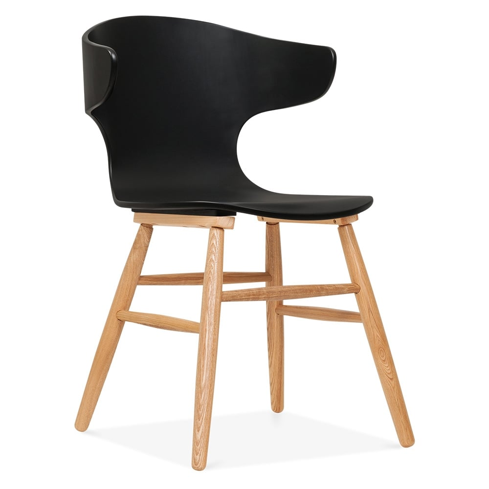 cult living elin curved back dining chair black cult furniture uk. Black Bedroom Furniture Sets. Home Design Ideas