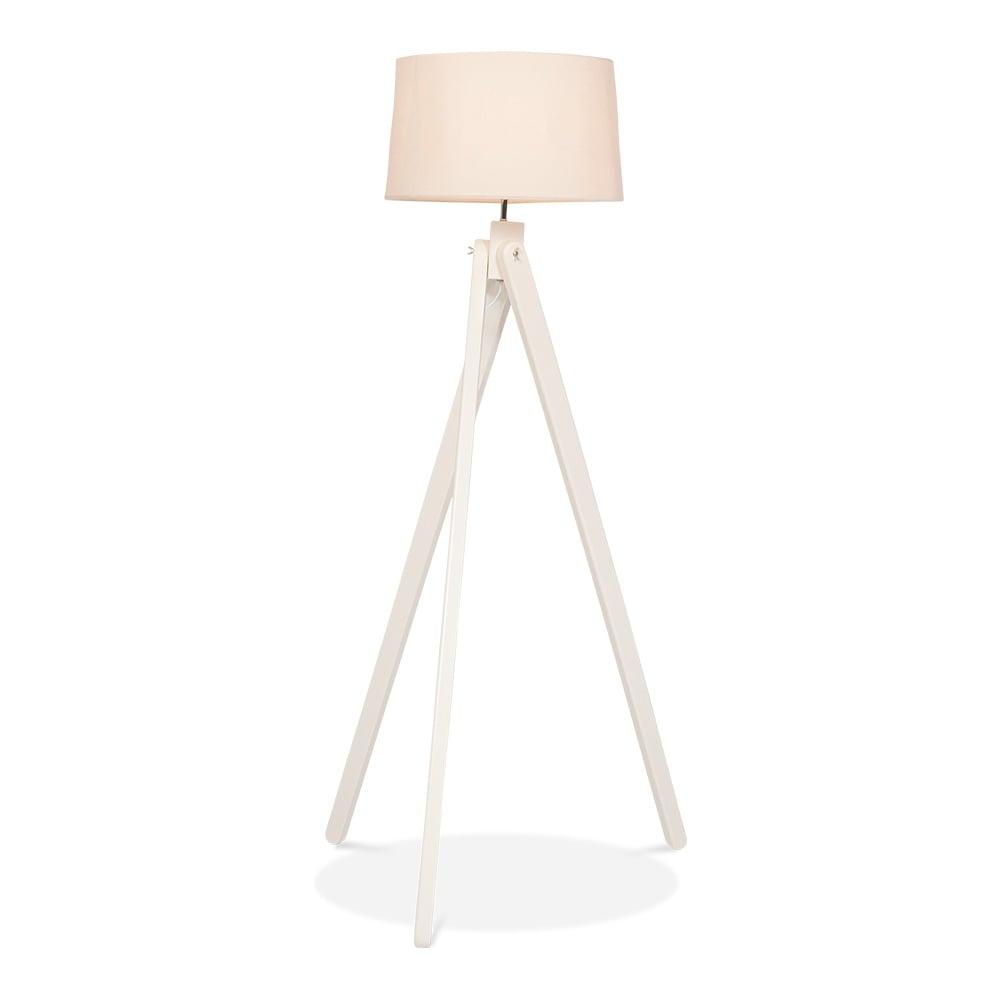 Cult Living Tripod Wooden Floor Lamp - White - Cult Living Tripod Wooden Floor Lamp In White Wood Cult Furniture UK