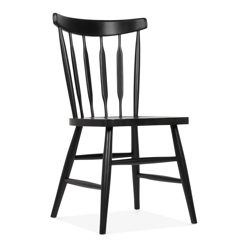 cult living windsor dorothy black wooden chair cult. Black Bedroom Furniture Sets. Home Design Ideas