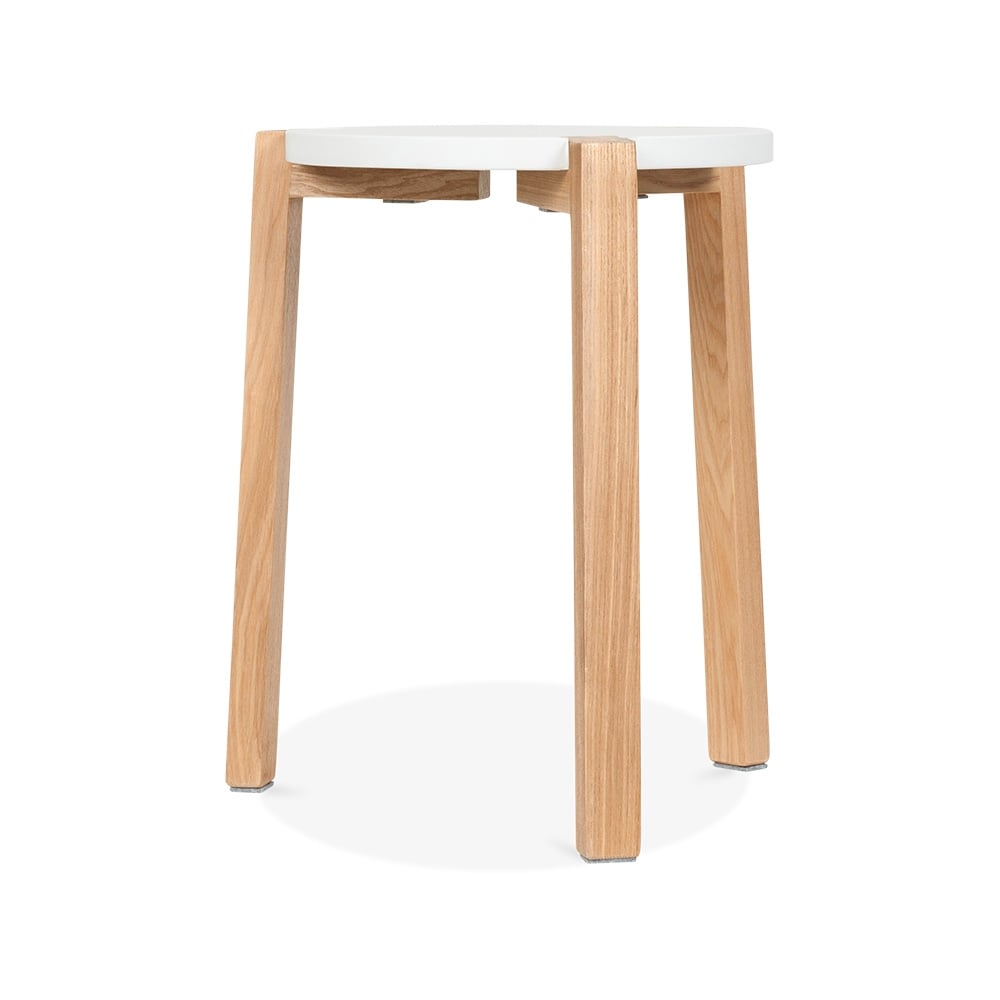 Cult living white jepsen wooden stool cult furniture - Cult furniture ...