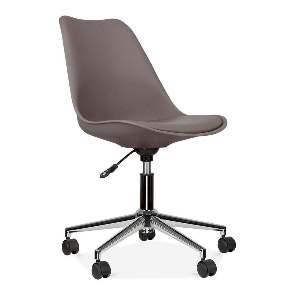 eames inspired office chair with castors warm grey cult uk
