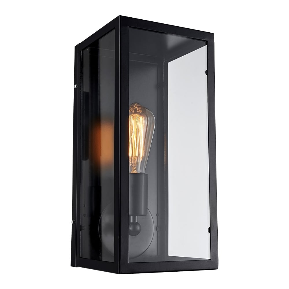 Glass Box Wall Lights : Cult Living Box Glass & Metal Wall Sconce Black Cult Furniture