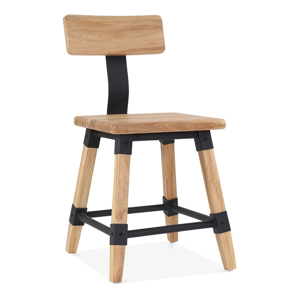 Bastille natural square wooden chair cult furniture - Cult furniture ...