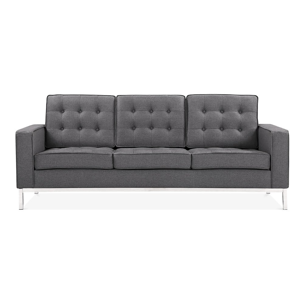 cult living riley 3 seater sofa dark grey cult furniture uk. Black Bedroom Furniture Sets. Home Design Ideas