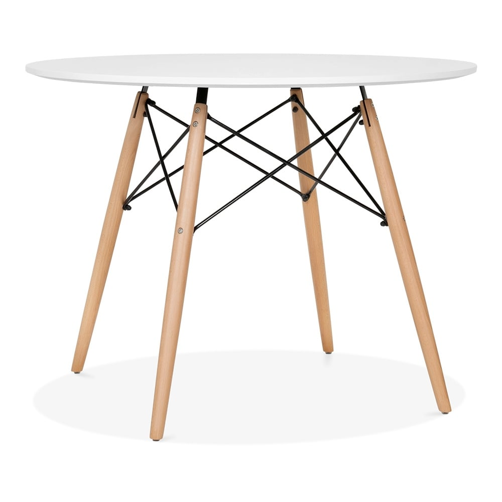 eames dsw white table with wooden legs 100cm dining tables cult uk