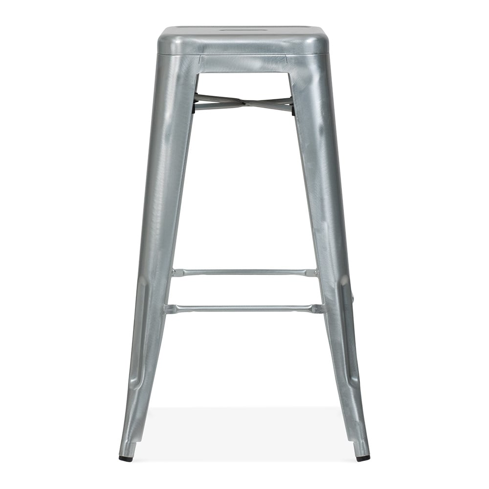 Galvanized Metal 75cm Tolix Style Industrial Stool Cult Uk