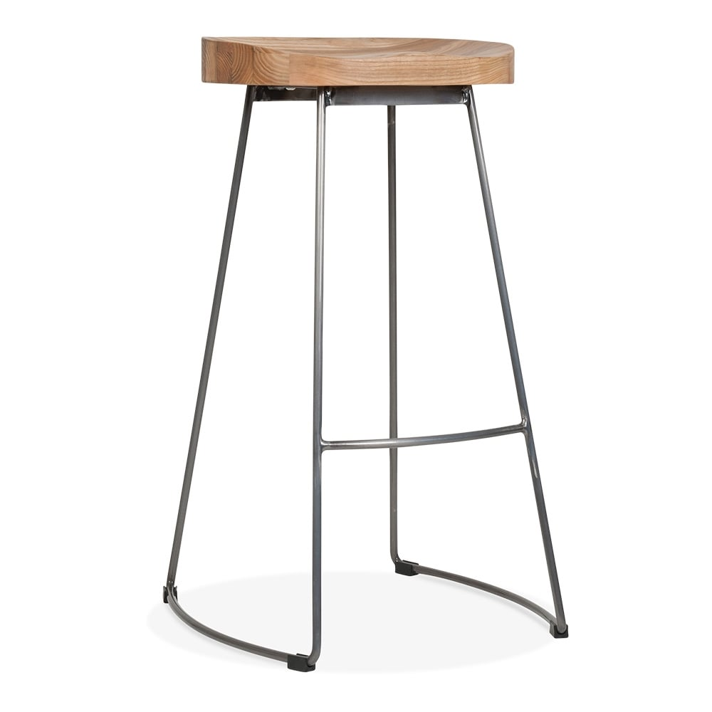 victoria Metal Bar Stool with Wood Seat Gunmetal 75cm  : 1484657456 20070800 from www.cultfurniture.com size 1000 x 1000 jpeg 30kB
