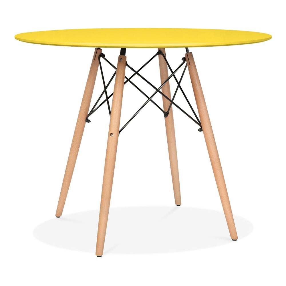 Eames DSW Style 90cm Yellow Round Table Round Dining  : 1485190668 22899800 from www.cultfurniture.com size 1000 x 1000 jpeg 43kB