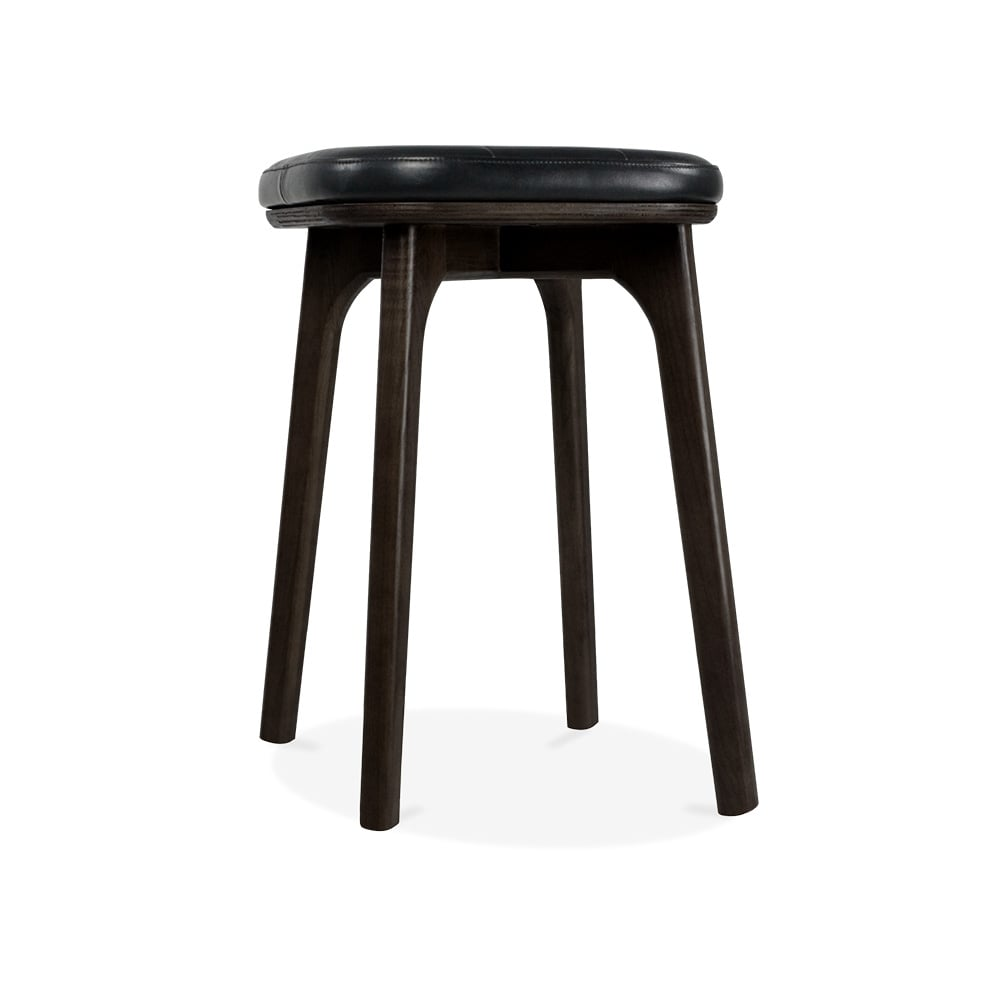 Cult Living Winchester Upholstered Solid Wood Low Stool - Black 45cm  sc 1 st  Cult Furniture & Winchester Upholstered Wooden Low Stool Black u0026 Black 45cm | Cult UK islam-shia.org