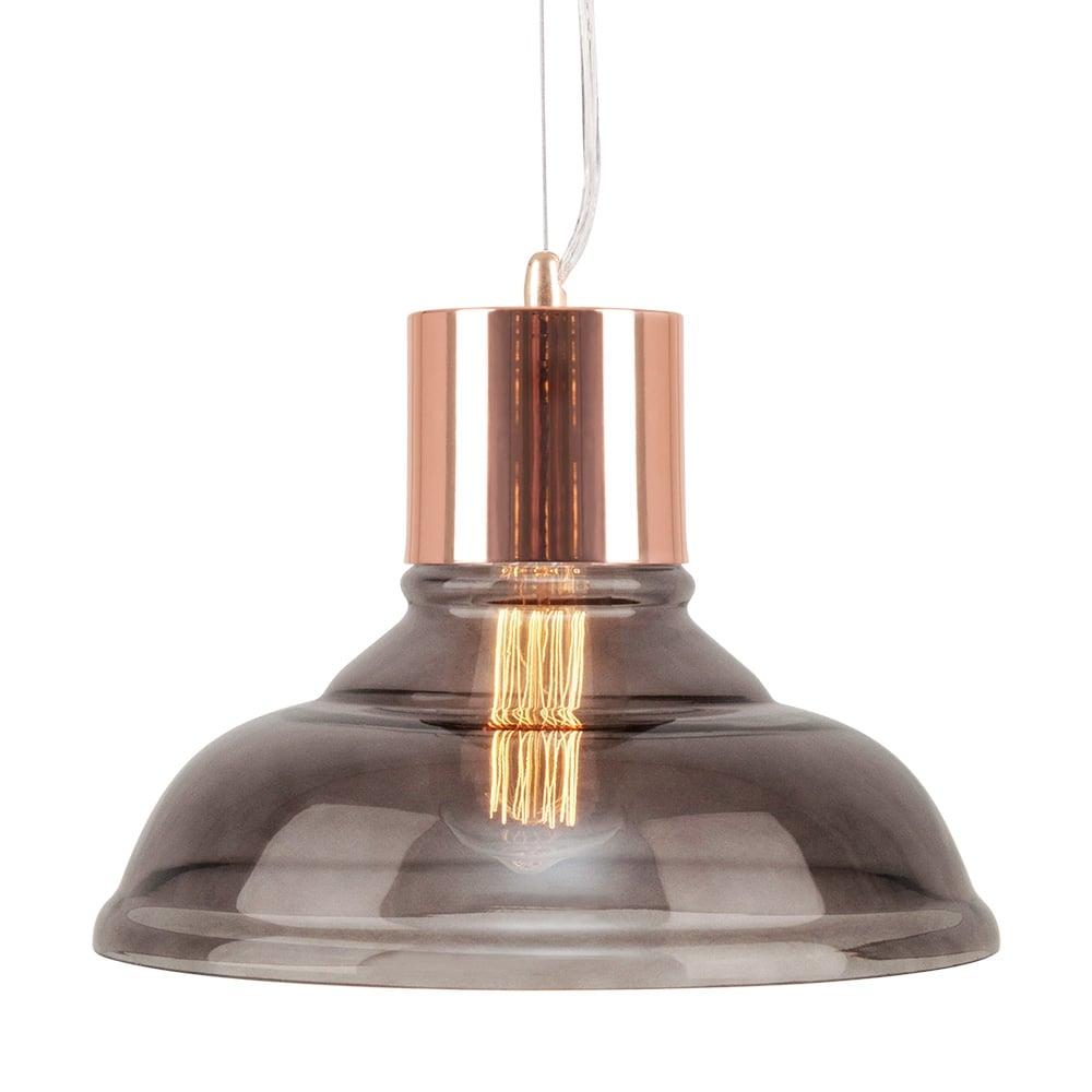 Cologne Glass Pendant Light Copper Black Cult Uk