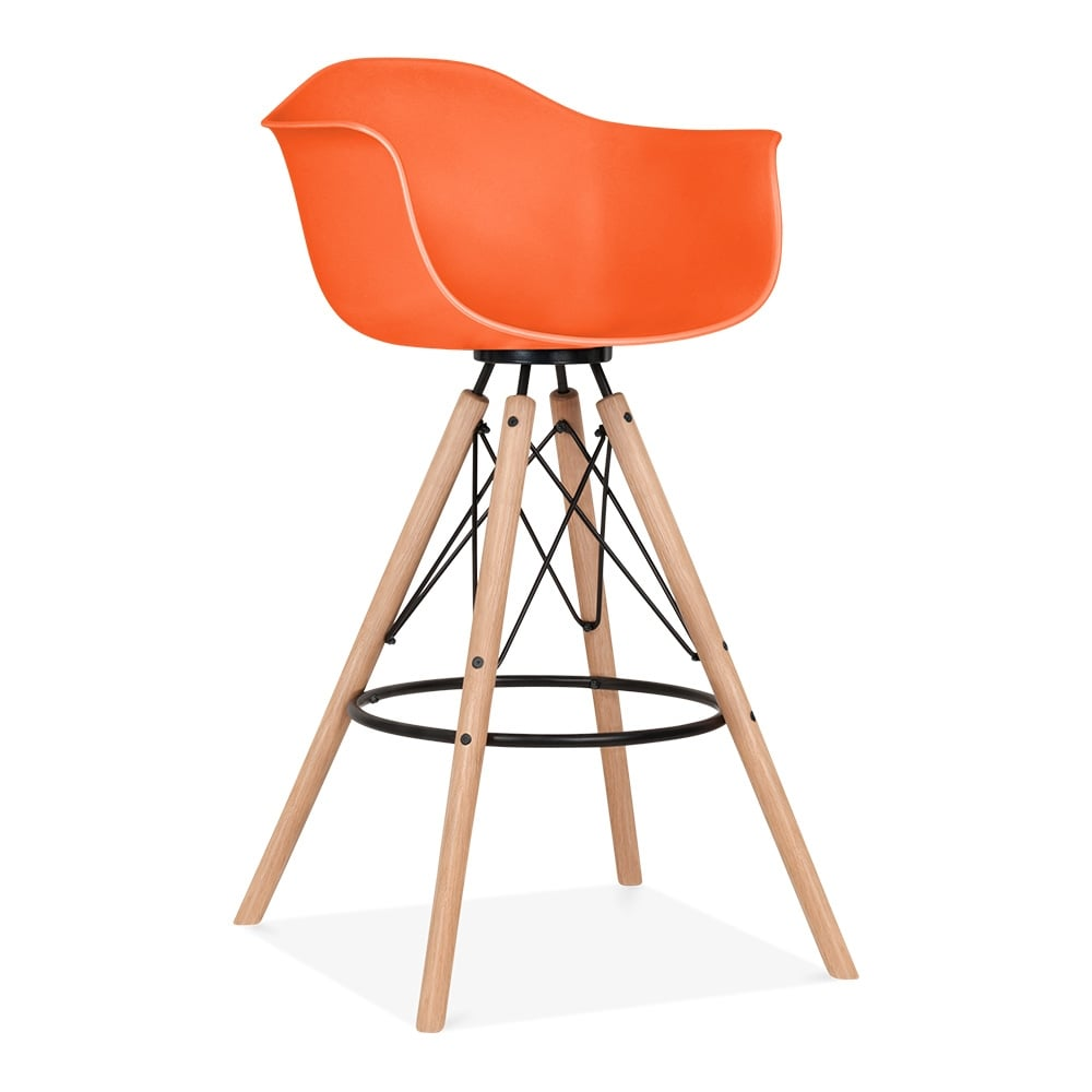 Cult design orange moda bar stool with armrest cd3 cult for Bar stools clearance