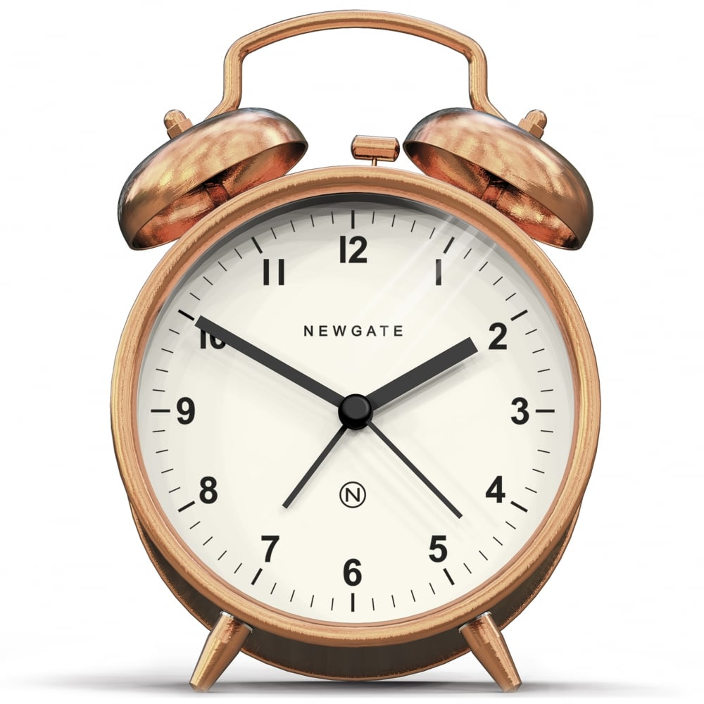 Newgate Clocks Copper Charlie Bell Alarm Clock Cult