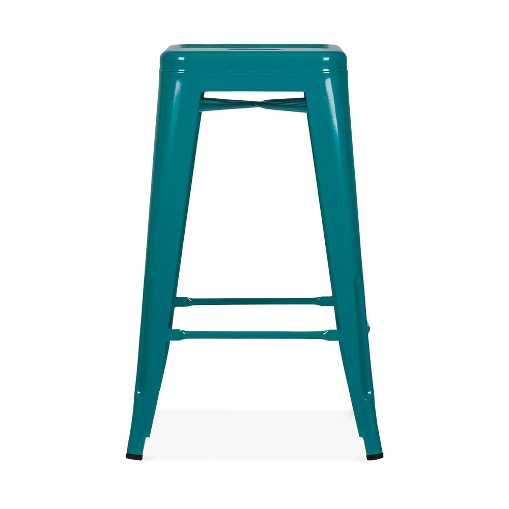 teal green 65cm tolix style metal bar stool industrial kitchen stools. Black Bedroom Furniture Sets. Home Design Ideas